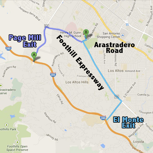 map of palo alto